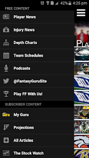 FantasyGuru.com's MyGuru- screenshot thumbnail