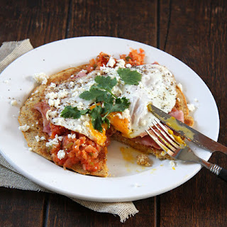 Huevos Rancheros with a Savory Cornbread Pancake