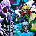 skull graffiti wallpaper theme icon