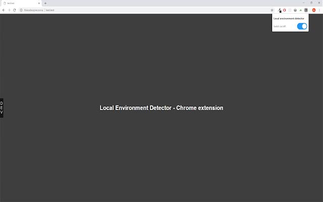 Local environment detector