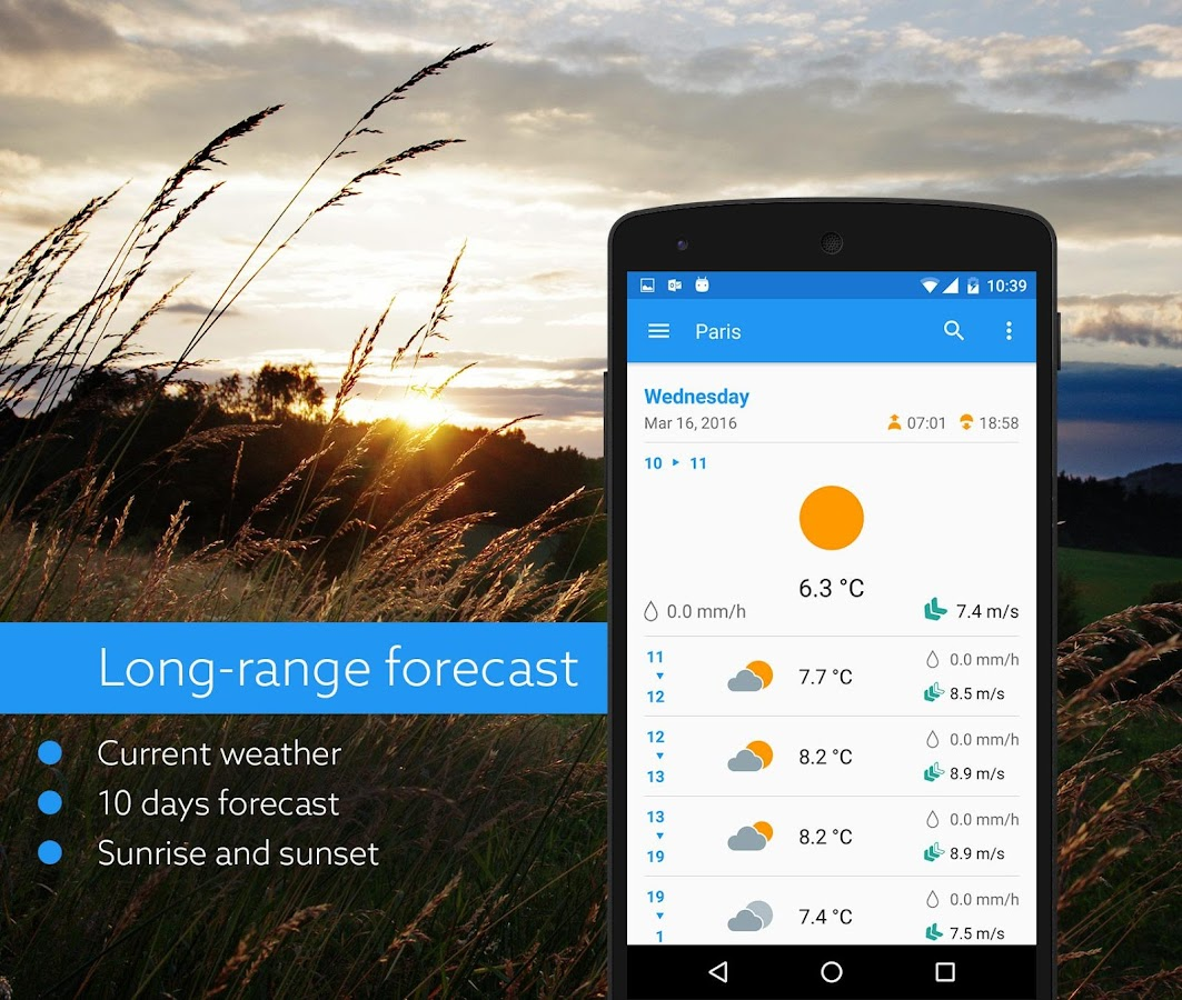 Klara weather- screenshot