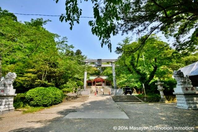 香取神宮の鳥居と狛犬