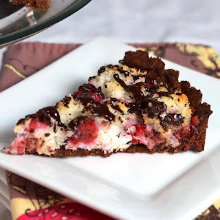 Chocolate Raspberry Macaroon Tart