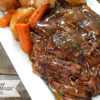 SLOW COOKER POT ROAST AND POTATOES