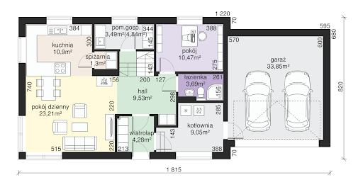 Dom przy Alabastrowej 25 - Rzut parteru