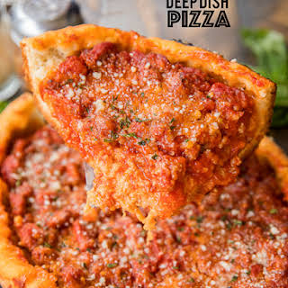 Slow Cooker Deep Dish Pizza.