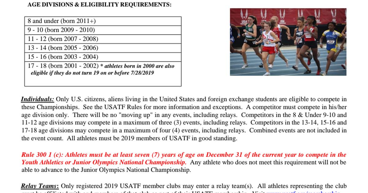 2019 USATF Youth JO Region 15 Track & Field Championships