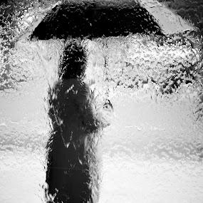 Waiting in Rain by Brett Florence - People Fine Art ( waiting, rain )