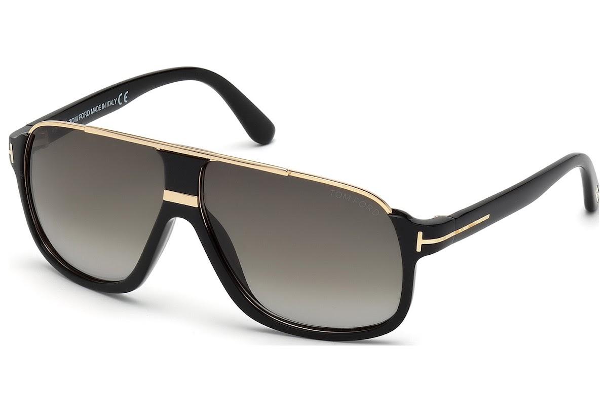 80b01ce05f2 Sunglasses Tom Ford Eliott FT0335 C60 01P (shiny black   gradient green)
