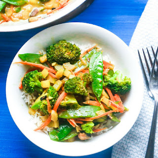 Coconut Curry Rice and Vegetables.