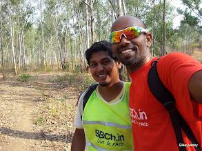 Photo: With Aditya who was volunteering for the race!