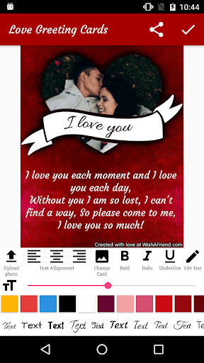 Love Greeting Card Maker - Love Messages & Cards  screenshots 2