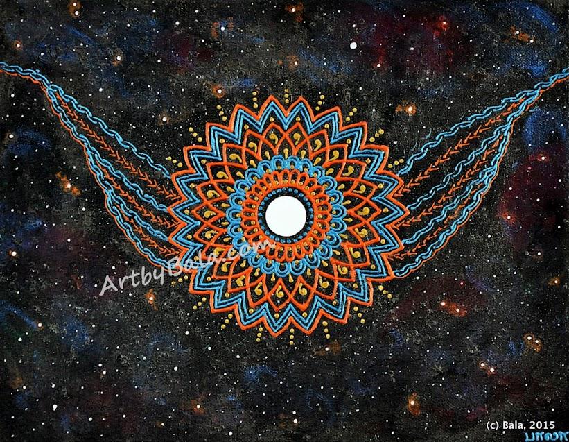 Henna style nebula painting