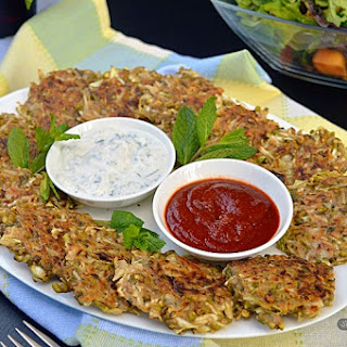 Cabbage and Sprouted Mung Bean Fritters.