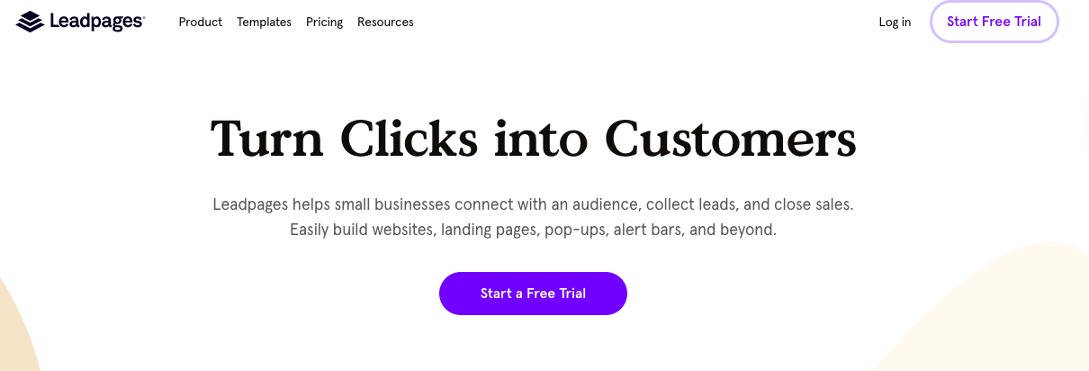 Leadpages hero image