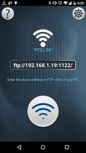 Wifi FTP Tunnel Sharing Portal