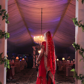 The Bride by Farrukh Saleem - Wedding Bride ( lights, farrukh saleem, red, bride, photography )