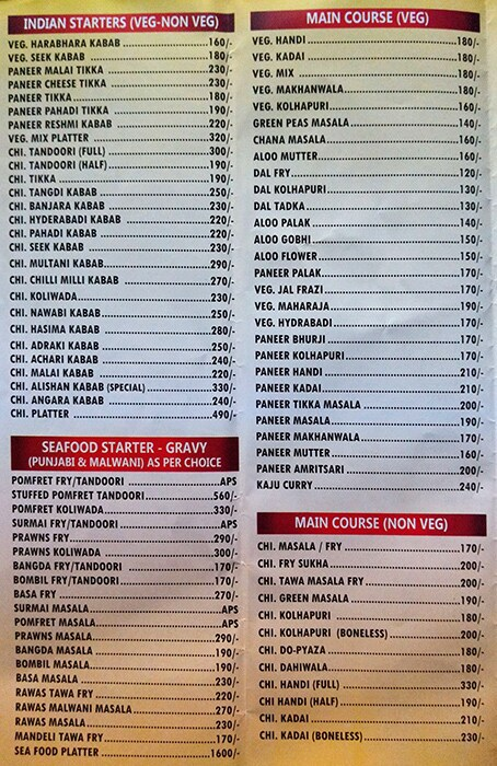 Hotel Grand menu 1