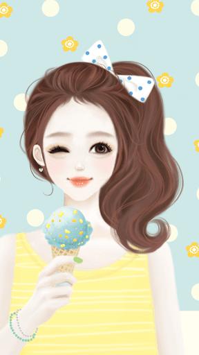 헷지 민트아이스크림 카카오톡 테마