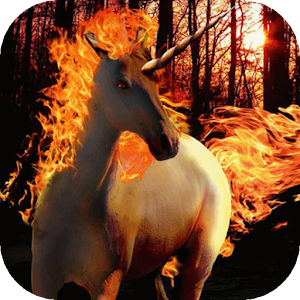 download White unicorn live wallpaper apk