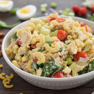 Chicken Cobb Macaroni Salad.