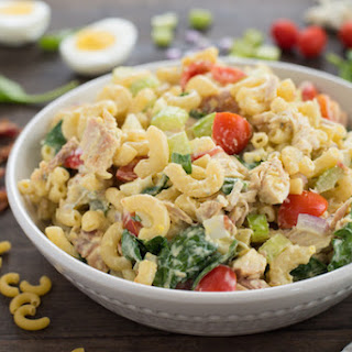 Chicken Cobb Macaroni Salad.