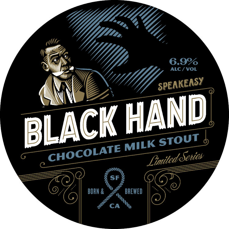 Logo of Speakeasy Black Hand Chocolate Milk Stout