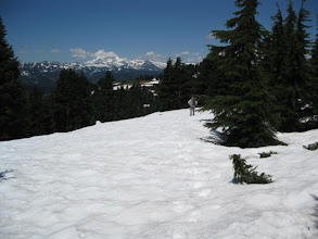 Photo: We got lost at least 4 x that day - two of them majorly time consuming.  When we got to a pass or a big bowl, it was totally snow covered.  There have been steep hillsides although the snow was often soft and easy to put steps in.