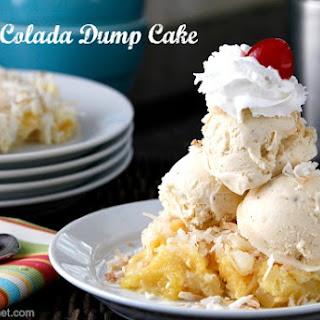 Pina Colada Dump Cake.