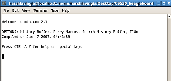 Lab1 - Communication between BeagleBoard and host machine using