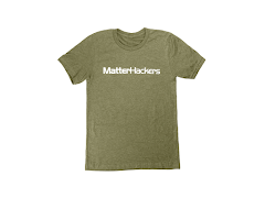 MatterHackers Printed Heather T-Shirts Olive Heather Medium