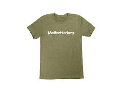 MatterHackers Printed Heather T-Shirts Olive Heather Medium