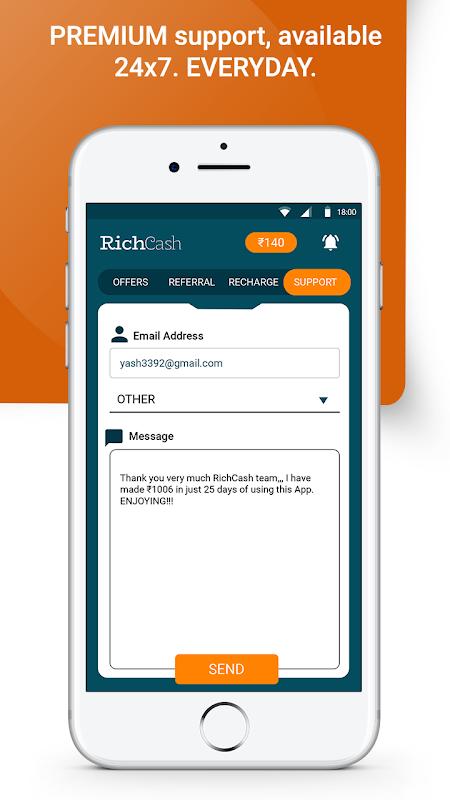 Download RichCash free recharge APK latest version by Super