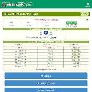 App Indian Railways @etrain.info APK for Windows Phone