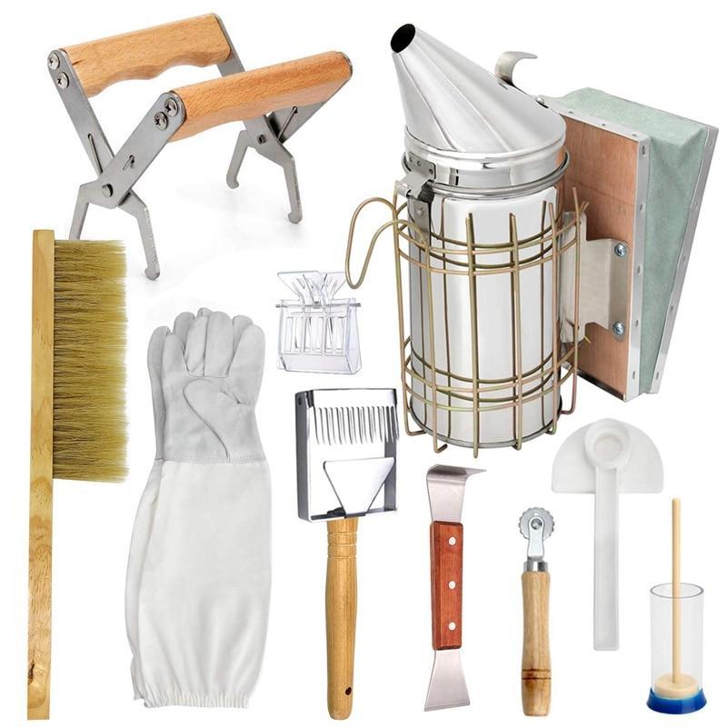 Beekeeping Honey Tool Kit Beekeeping Starter Kit Set Of 10 Beekeeping  Equipment Supplies Beekeeping Tools  - AliExpress