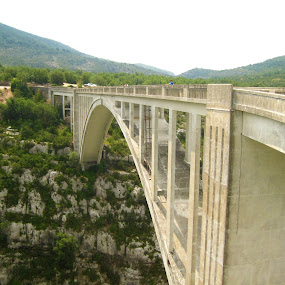 France by Els He - Buildings & Architecture Bridges & Suspended Structures ( mountains, nature, france, bridge, europe,  )