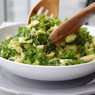 Honey Mustard Brussels Sprout & Kale Salad.