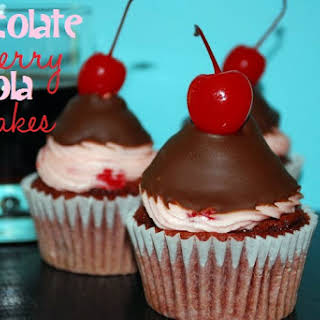Chocolate Cherry Cola Cupcakes.