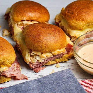 Reuben Sliders with Homemade Russian Dressing