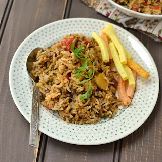 Sprouts Mixed Vegetable Pulao
