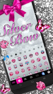 Silver Bowknot Keyboard Theme 1.0 Mod APK Updated Android 2