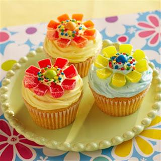 Flower Power Cupcakes.