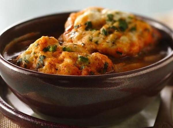 Chili Chicken Soup With Cilantro Dumplings Recipe