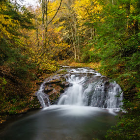 Upper Mill Brook Falls by Lee Davenport - Landscapes Waterscapes