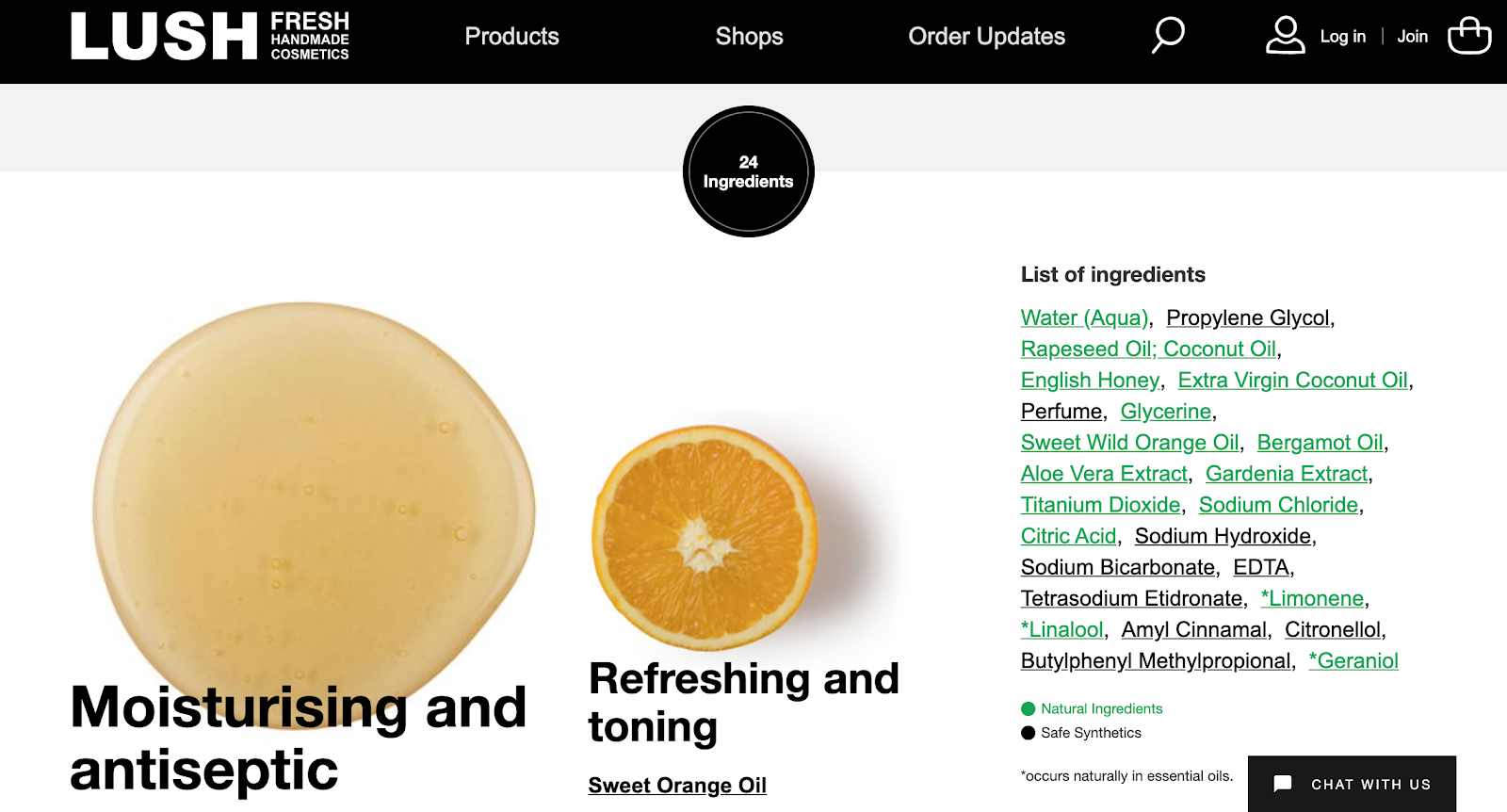best product detail page examples lush