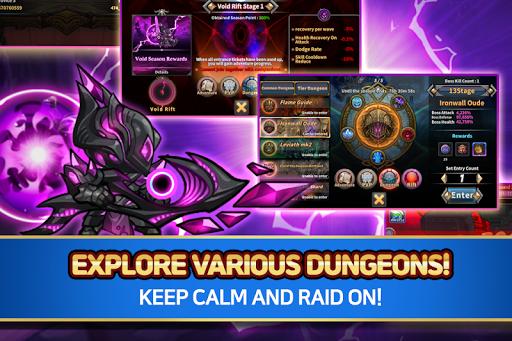 Raid the Dungeon : Idle RPG Heroes AFK or Tap Tap apkslow screenshots 4