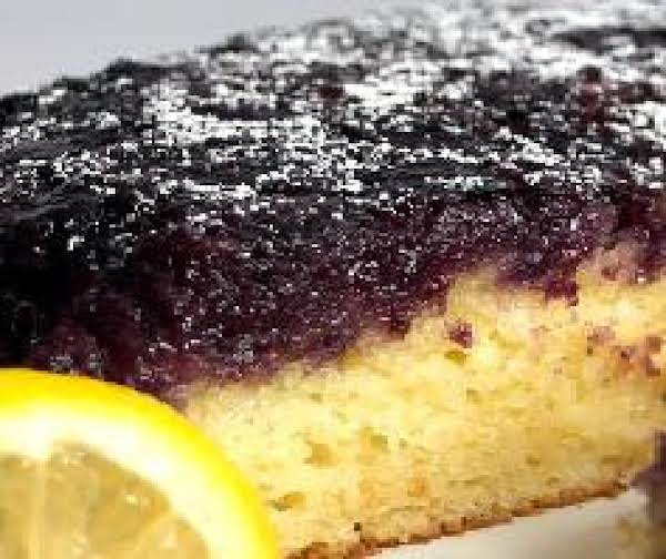 Blueberry Lemon Upside Down Cake Recipe