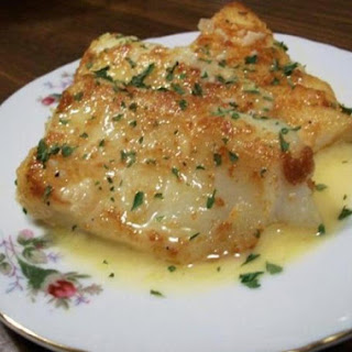 Lemon Butter Baked Cod.