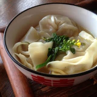 Chicken and Lemon Myrtle Wonton Noodle Soup.