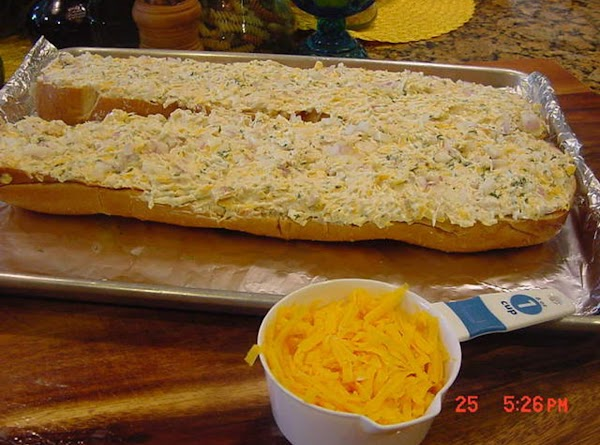 Spread the mixture evenly onto the bread.